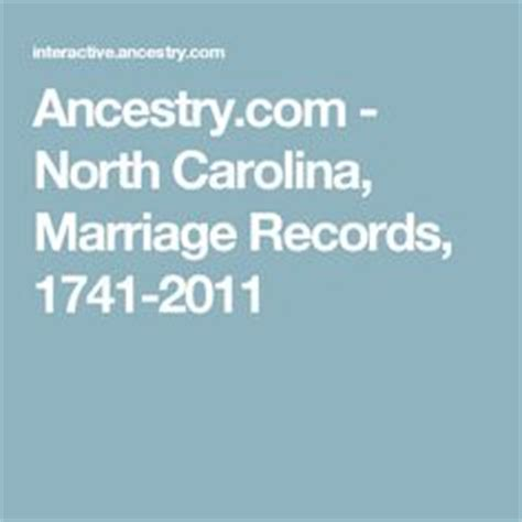 County Nc Marriage Records Carolina Genealogy And Projects On