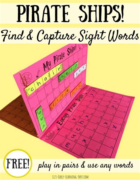 Another Word For Sink by Sink The Sight Word Pirate Ships Liz S Early Learning Spot