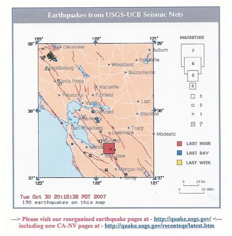 san jose earthquake map usgs earthquake monitor san jose