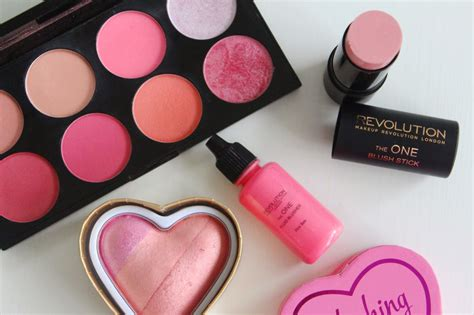 Kosmetik Blusj On makeup revolution blush options review flutter and sparkle