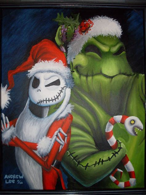 jack and oogie nightmare before christmas fan art