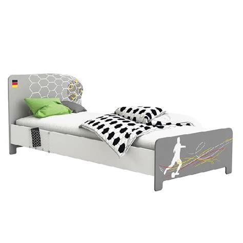 Kinder Futon by Soccer Childrens Single Bed In Pearl White And Grey 28533