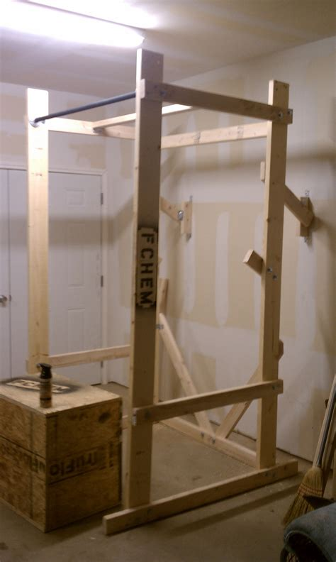 woodwork wooden squat rack plans  plans