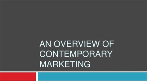 Principles Of Contemporary Marketing contemporary marketing