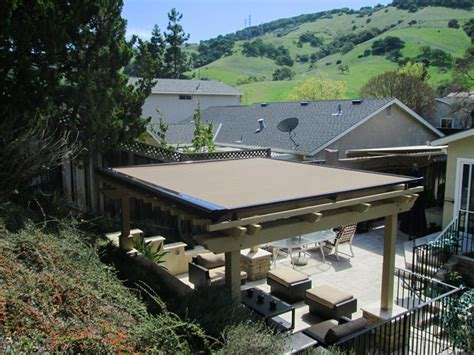 pergola cover retractable pergola covers ers shading san jose ca