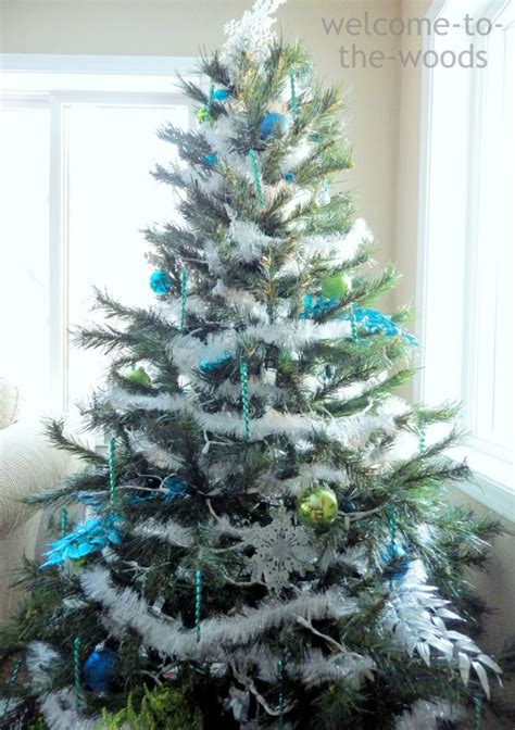 blue and silver tree ideas decor 2014 welcome to the woods