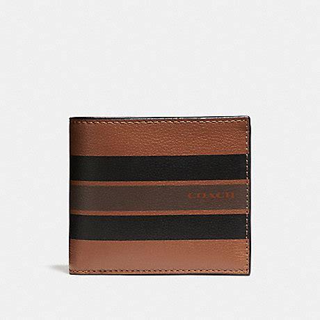 Coach Leather Midnight Black Saddle Mahogany coach f75399 compact id wallet in varsity leather saddle black mahogany coach