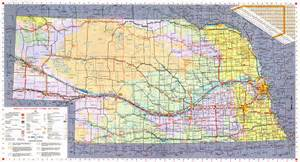 road map of nebraska usa large detailed nebraska state highways system map with
