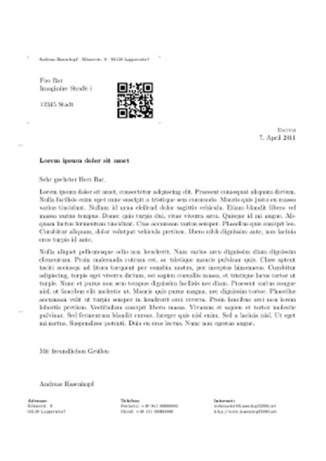 Deutschland Briefformat Business Letter
