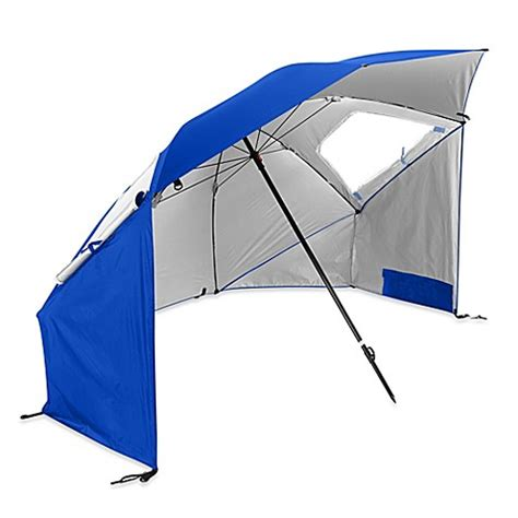 bed bath beyond umbrella sport brella super brella beach umbrella in blue bed