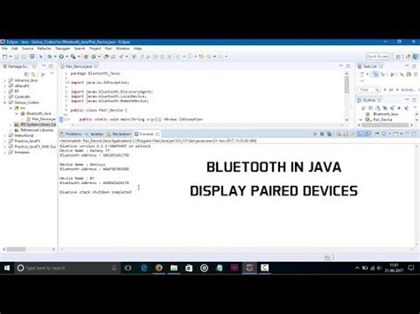 Tutorial Java Bluetooth | bluetooth in java paired devices youtube
