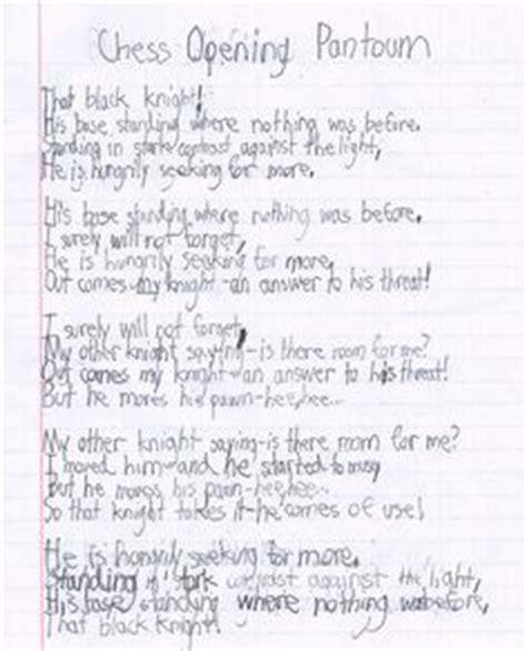 pantoum template school stuff on poetry activities figurative