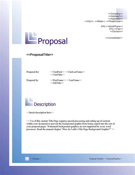 design proposal title proposal pack business 8 software templates sles
