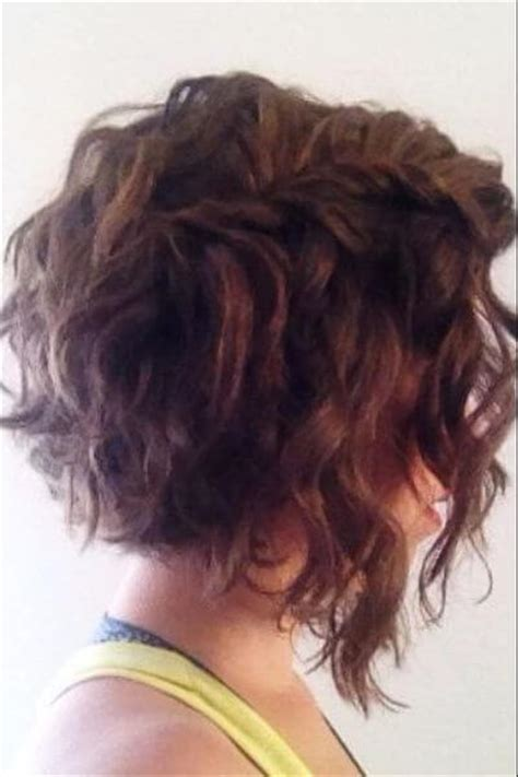 asymeyrical for wavy thick hair asymmetrical bob curly back www pixshark com images