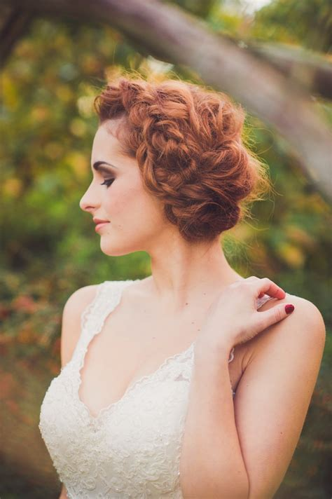 a bridal hair tutorial showing brides how to create tousled waves and a boho