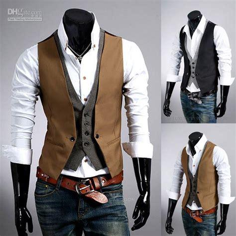 False Two Pieces Fashion Mens Plaid Vest Small Jackets Coats But 1 2018 mens dress new arrival fashion plaid false two pieces slim vest metrosexual
