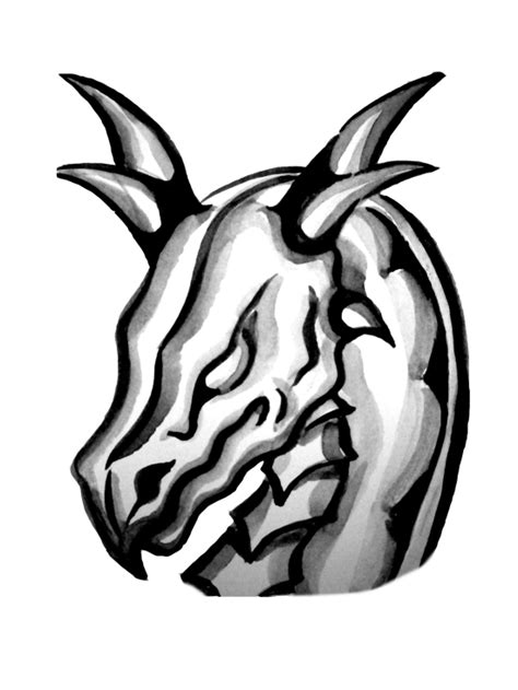 black and white dragon tattoo clipart library clip art