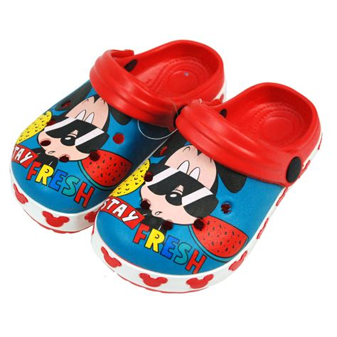 Mickey Blue Slipper Sandals disney 174 mickey mouse sandals pool slippers