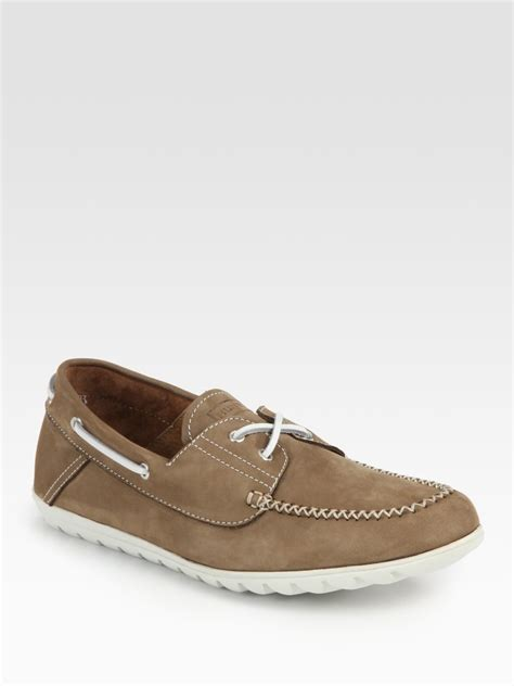 moccasin loafers for suede moccasin loafers in brown for latte lyst