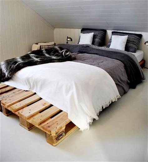 how to make a bed out of pallets discover your creativity a pallet bed pallet furniture diy