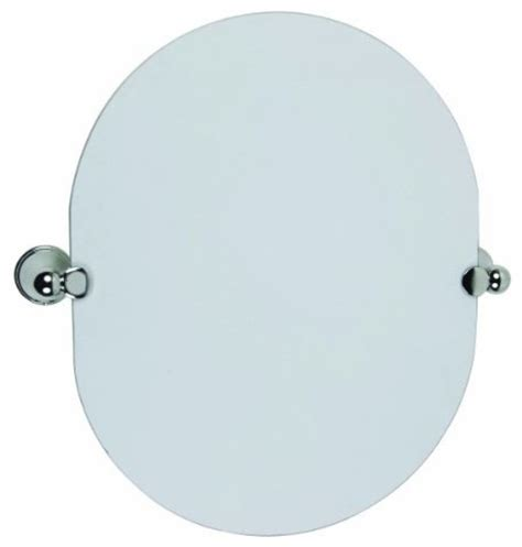 oval pivot bathroom mirror allante oval pivot mirror polished chrome modern bathroom mirrors by builderdepot inc