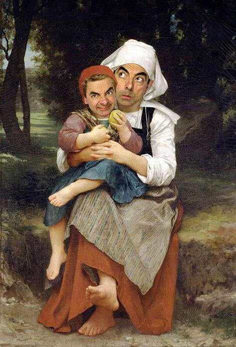 painting mr bean mr bean as the mona rembrandt and other iconic