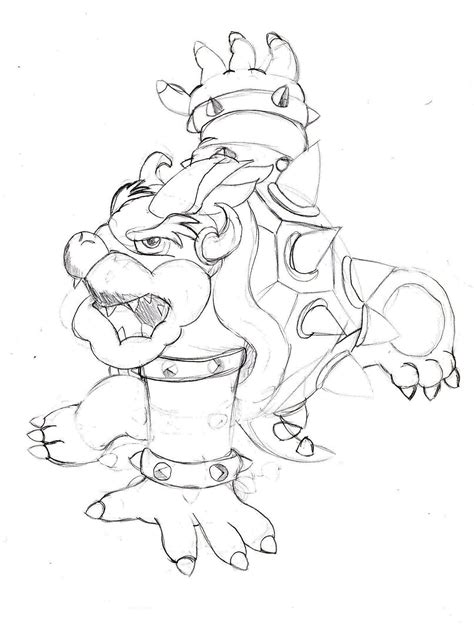 bowser jr coloring pages dark brown hairstyles