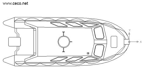 fishing boat cad drawing autocad drawing lifeboat rescue boat top dwg dxf