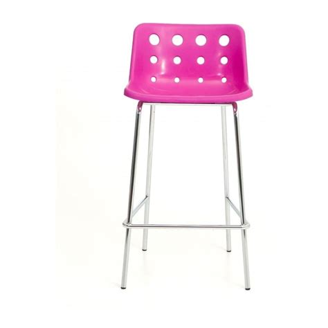 loft robin day 4 leg pink plastic polo bar stool by fusion