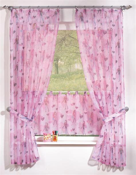 kinderzimmer gardinen rosa kinderzimmer gardine set mit herz motiv in rosa