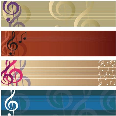 printable music banner music banners free vector ai format free vector download