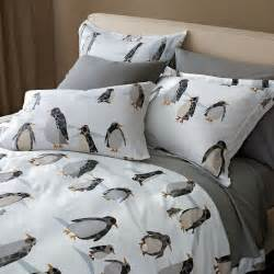 Baby Bedding Sets Penguin Penguin Promenade Flannel Sheets Found Via