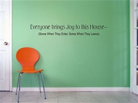 we buy any house online quote everyone brings joy to this house wall art sticker quote living room bedroom 050
