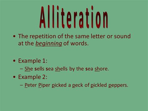 alliteration repetition ppt video online download