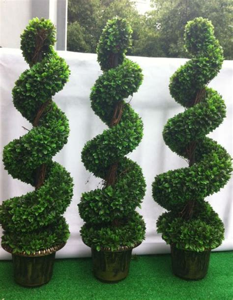 Artificial Outdoor Topiary - large bonsai artificial boxwood spiral tree buy artificial boxwood spiral tree spiral tree
