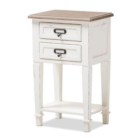 Baxton Studio Nightstand by Baxton Studio Dauphine Provincial Style Weathered Oak And