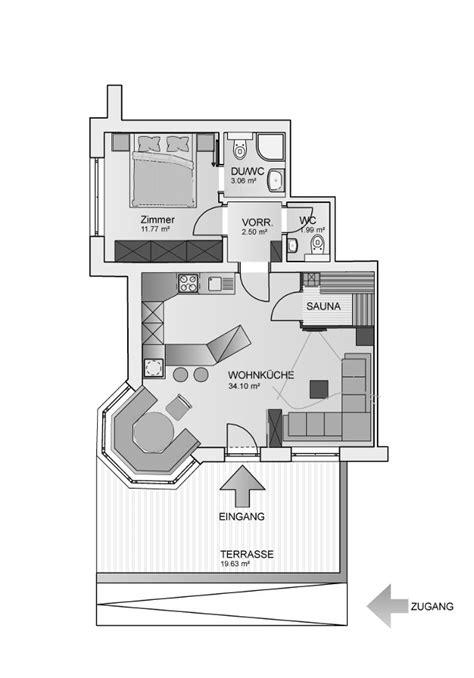 Apartment Mit 1 Schlafzimmer Grundriss by 1 Schlafzimmer Superior Appartement 2 4 Personen L