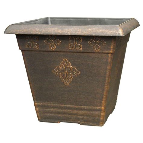 where to buy large planters 14 5 in medley square copper plastic planter sd690h wc
