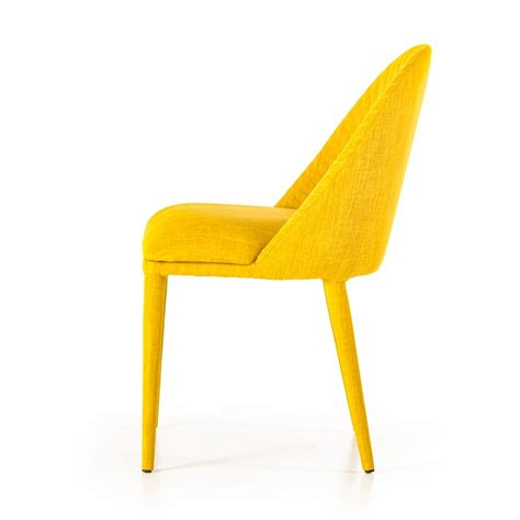 Yellow Fabric Dining Chairs Modern Yellow Fabric Dining Chair Set Of 2 Dining Chairs Dining Room