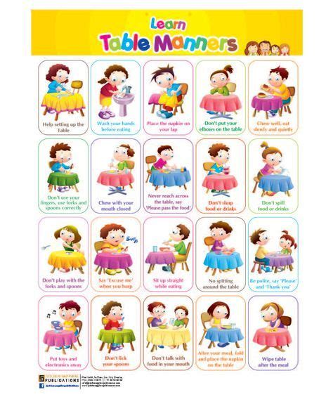 Image Result For Table Manners For Printable