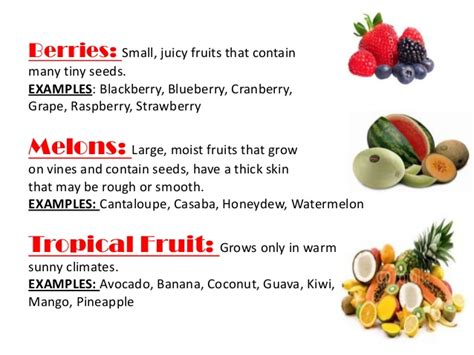 6 fruit classifications fn1 ppt fruits and vegetables