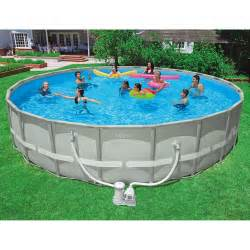 Intex 24 x 52 quot ultra frame above ground swimming pool