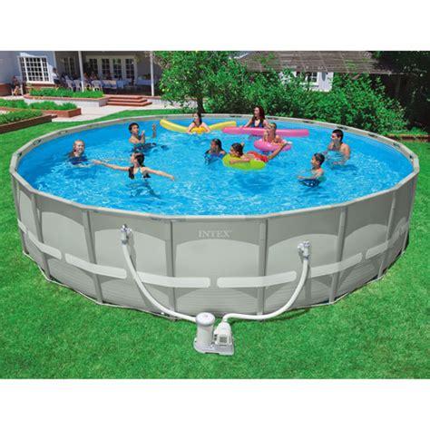 Backyard Pools Walmart Intex Above Ground Pool 24 X 52 Quot Walmart
