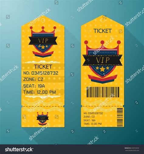 ticket design template retro style gold stock vector
