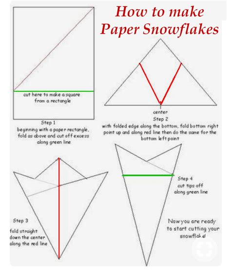 Easy Way To Make Paper Snowflakes - severn wishes no goddess just sabrina a