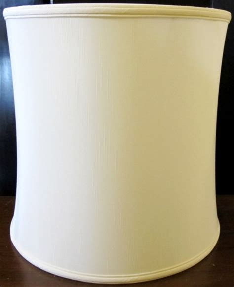 vintage bell shaped l shade flared ivory fabric stiffel l shades