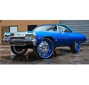 Chevy Donk Squatting Hard On 32s  Big Rims Custom Wheels
