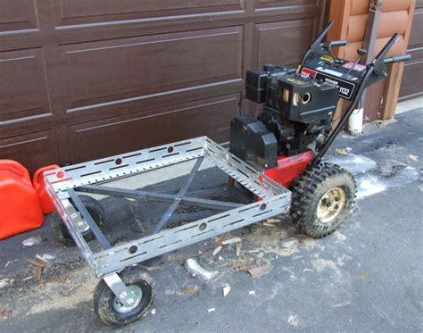 homemade power wagon built   snowblower powered