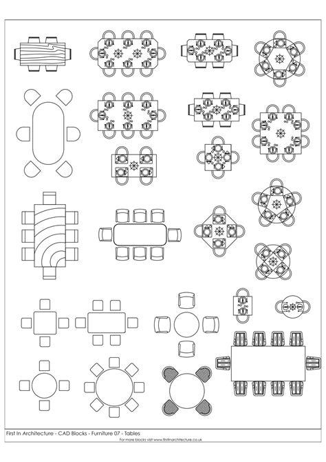 fia furniture cad blocks  tables   architecture
