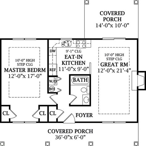 one bedroom cottage house plans cottage style house plan 1 beds 1 baths 792 sq ft plan